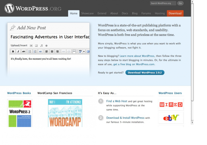 WordPress.org (screenshot)