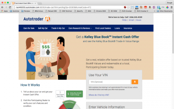 Autotrader Instant Cash Offer LandingPage