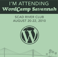 I'm attending WordCamp Savannah 2010