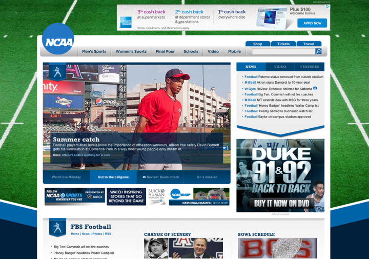 NCAA.com (screenshot)