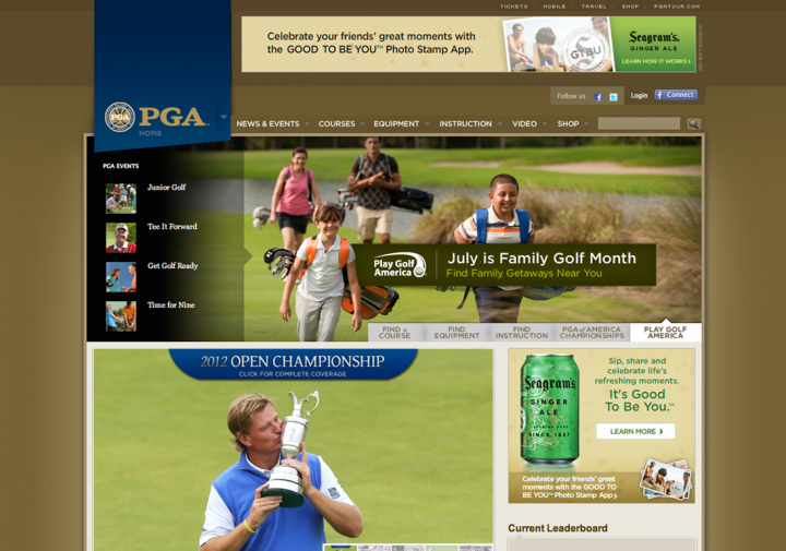 PGA.com (screenshot)