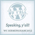 I'm speaking at WordCamp Birmingham 2012